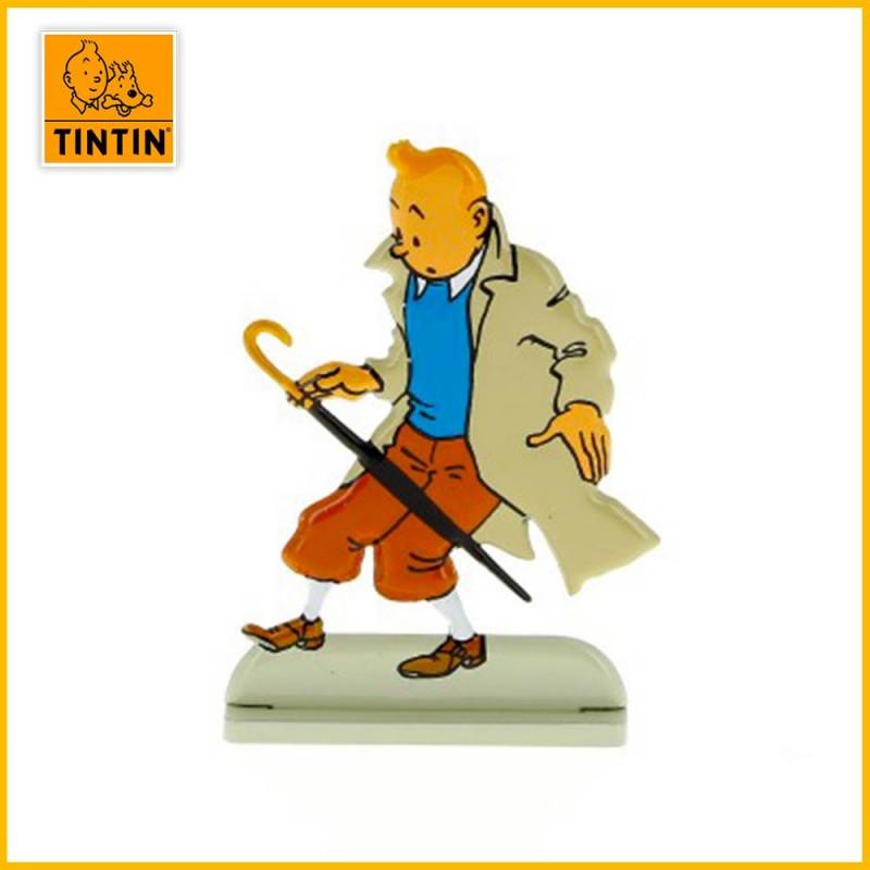 Tintin est surpris par un parapluie dans l'Affaire Tournesol