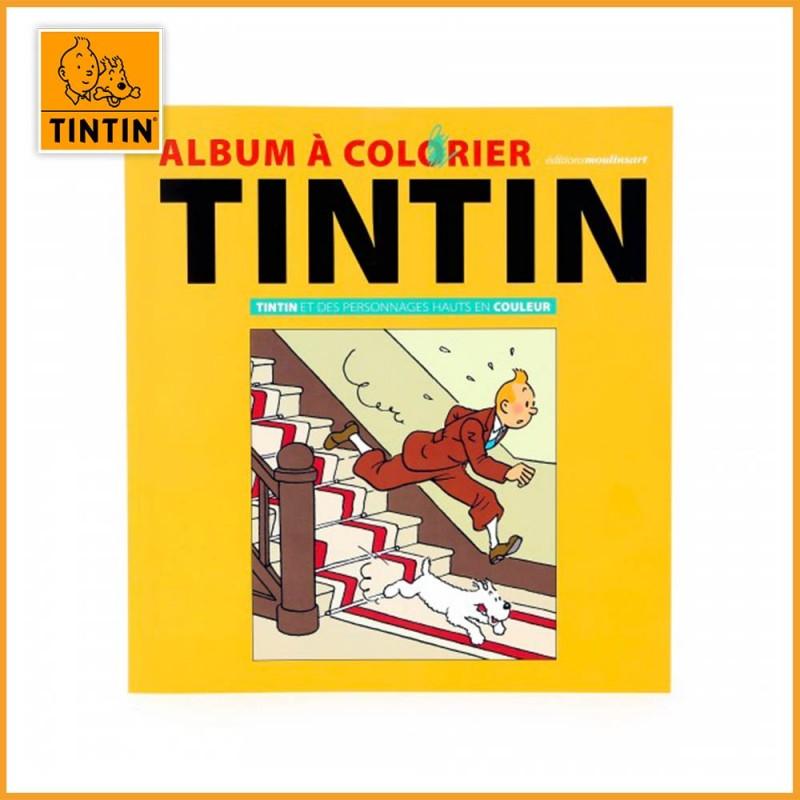 Tintin et des personnages hauts en couleurs - Album à colorier