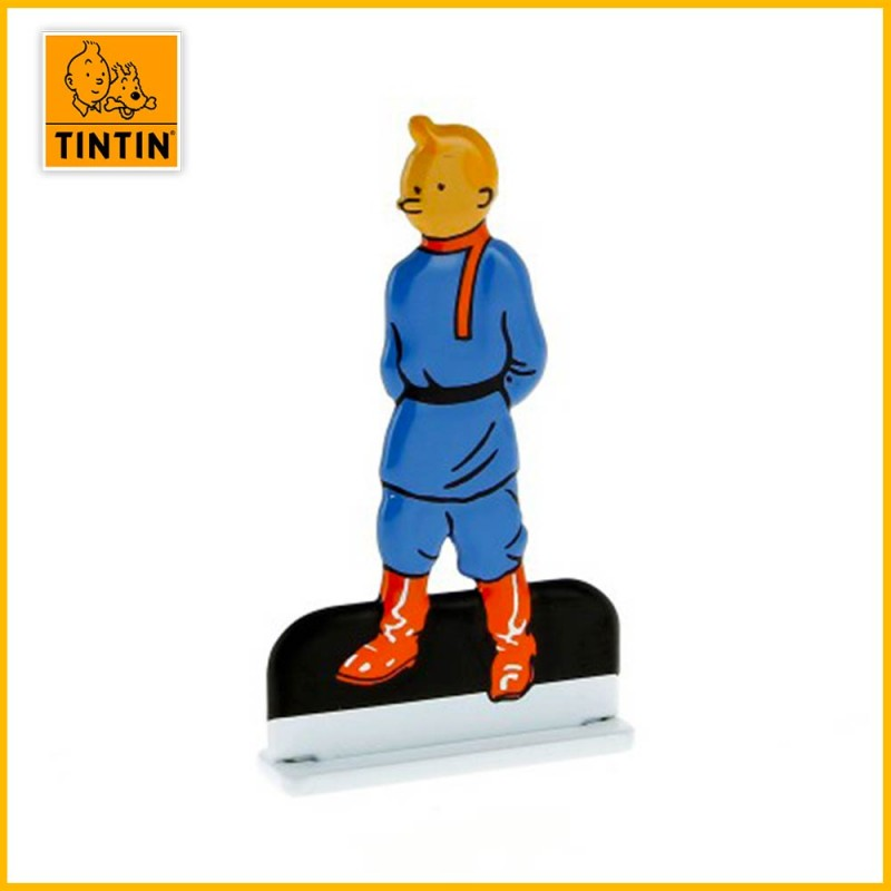 Tintin soviet Figurine relief en métal Moulinsart 29222
