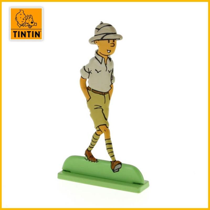 Tintin au Congo Figurine plate en métal Moulinsart 29215
