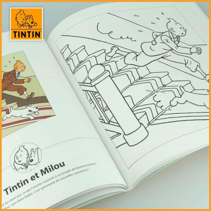oloriage Tintin et des personnages hauts en couleurs - Album à colorier