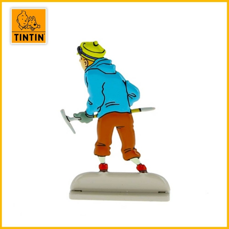 Verso de la figurine Tintin au tibet pic à glace