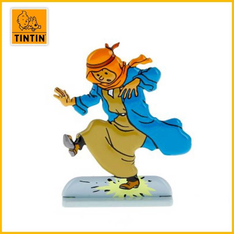 Figurine en relief de Tintin au pays de l'or noir.
