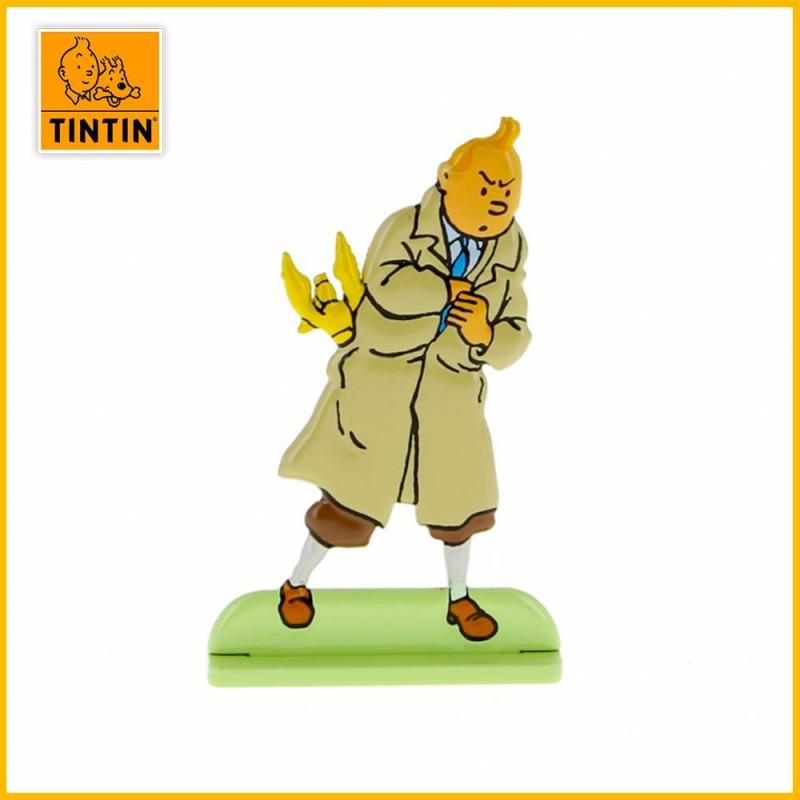Tintin avec le sceptre d'Ottokar Figurine plate en métal Moulinsart 29206