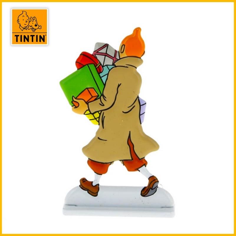 Verso de le figurine Tintin cadeaux