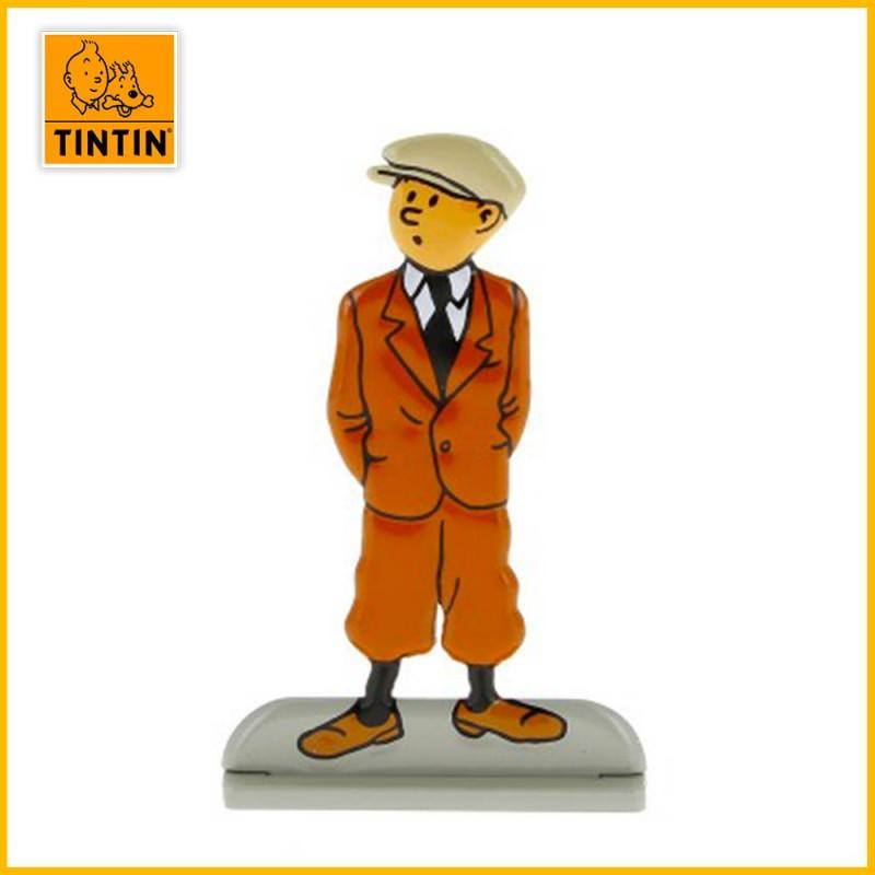 Figurine relief Tintin qui attend album Oreille cassée