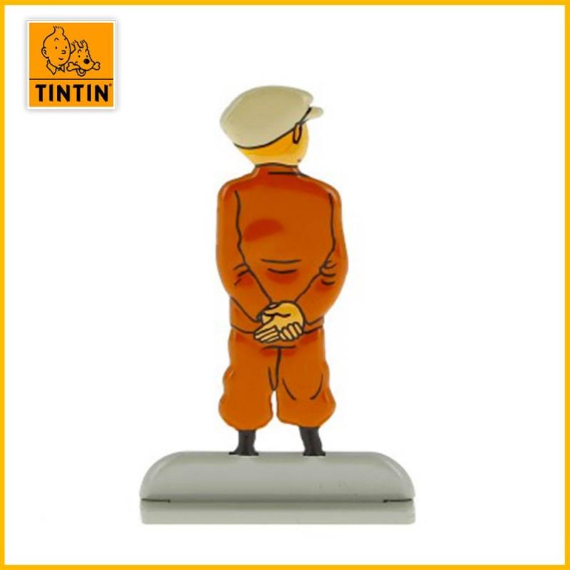 Tintin qui attend de dos avec béret