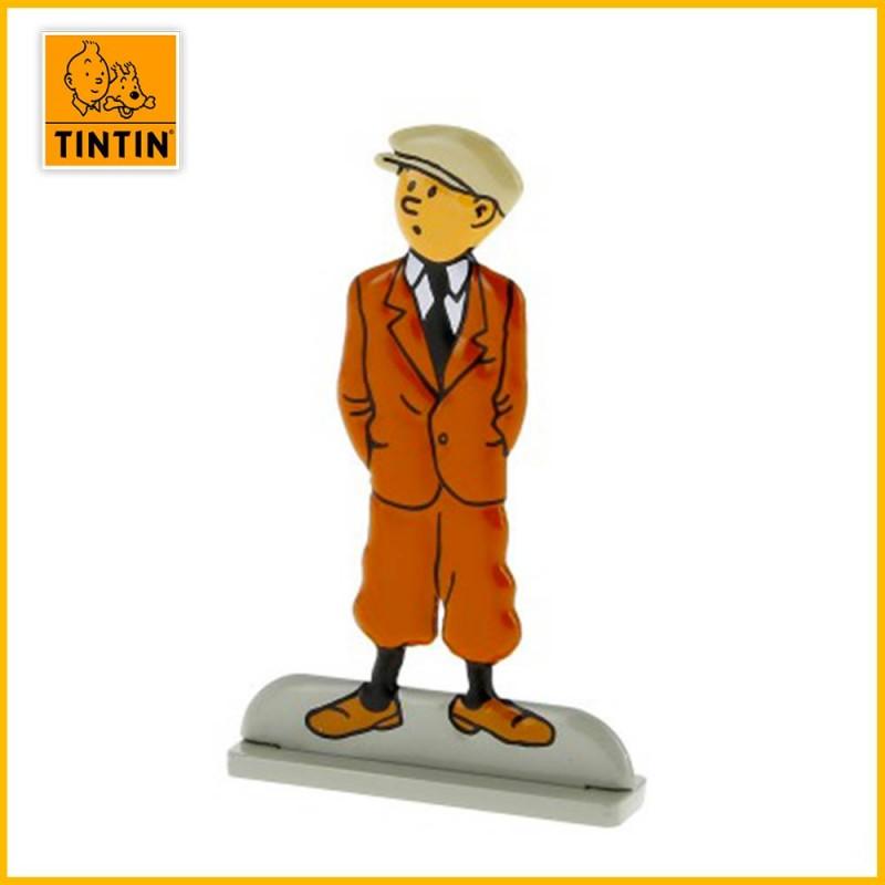 Tintin attend Figurine plate en métal Moulinsart 29202