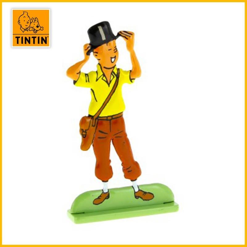 Figurine métal Tintin porte un chapeau Moulinsart 29213