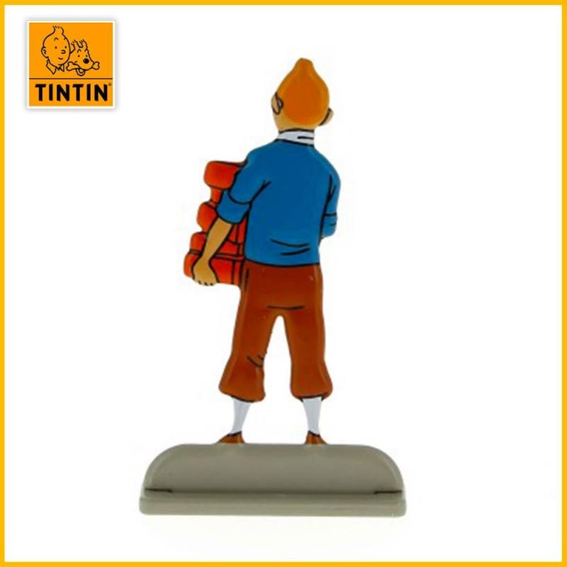 Tintin figurine en relief verso