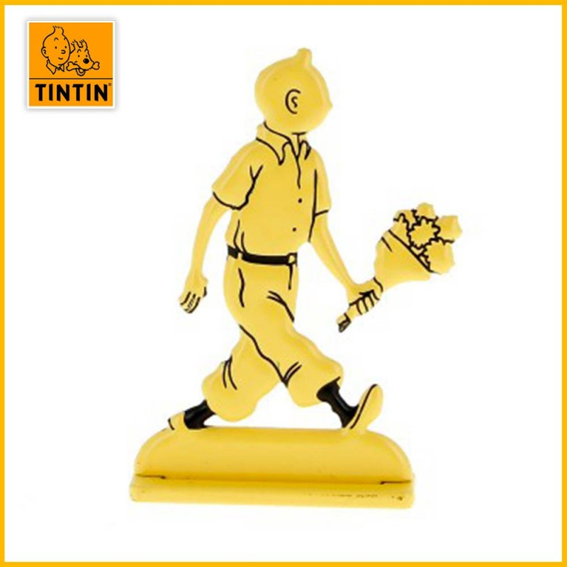 Figurine relief Tintin fleurs 29226