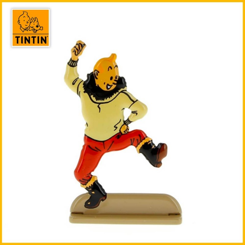 Tintin qui danse dans l'album de l'étoile mystérieuse