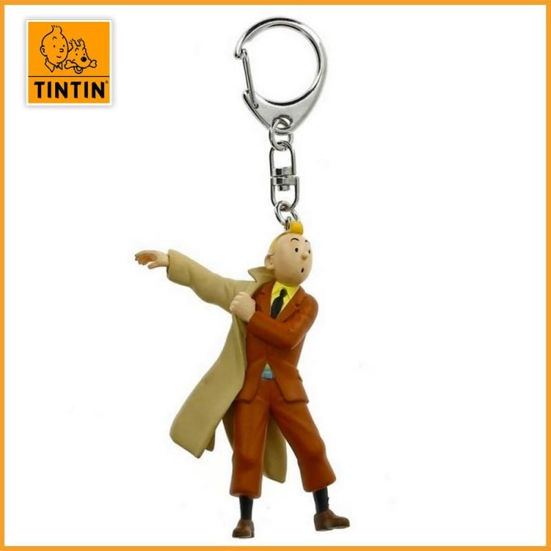 Porte-clés Tintin met son trench (petit modèle) - Porte clés tintin