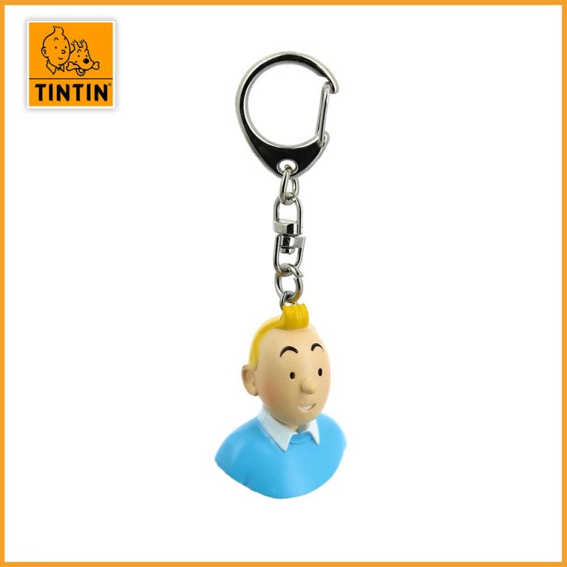 Porte-clés buste Tintin de Moulinsart