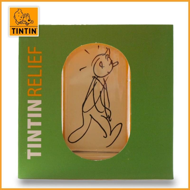 Figurine Tintin Relief Alph-Art en métal - Tintin & L'Alph-Art - le packaging