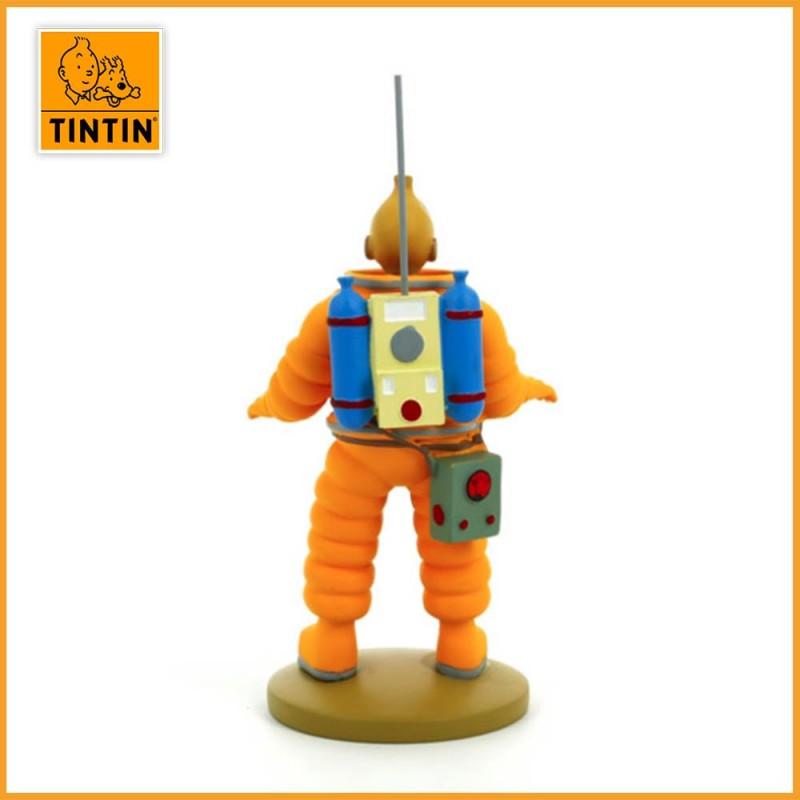 Figurine de Tintin en Cosmonaute - Figurine Tintin résine de 15 cm - dos