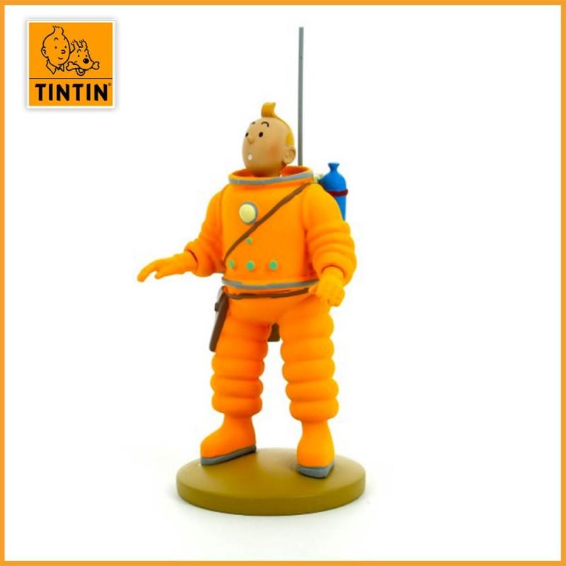 Figurine de Tintin en Cosmonaute - Figurine Tintin résine de 15 cm