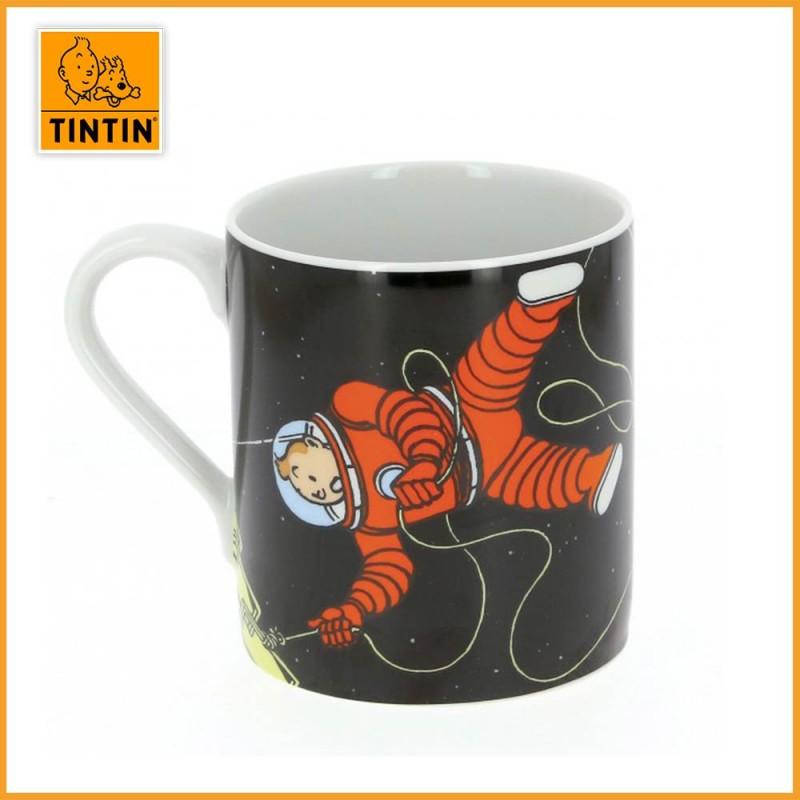 Mug Tintin & Haddock Lune - Tasse Tintin Lune - Tintin dans l'espace