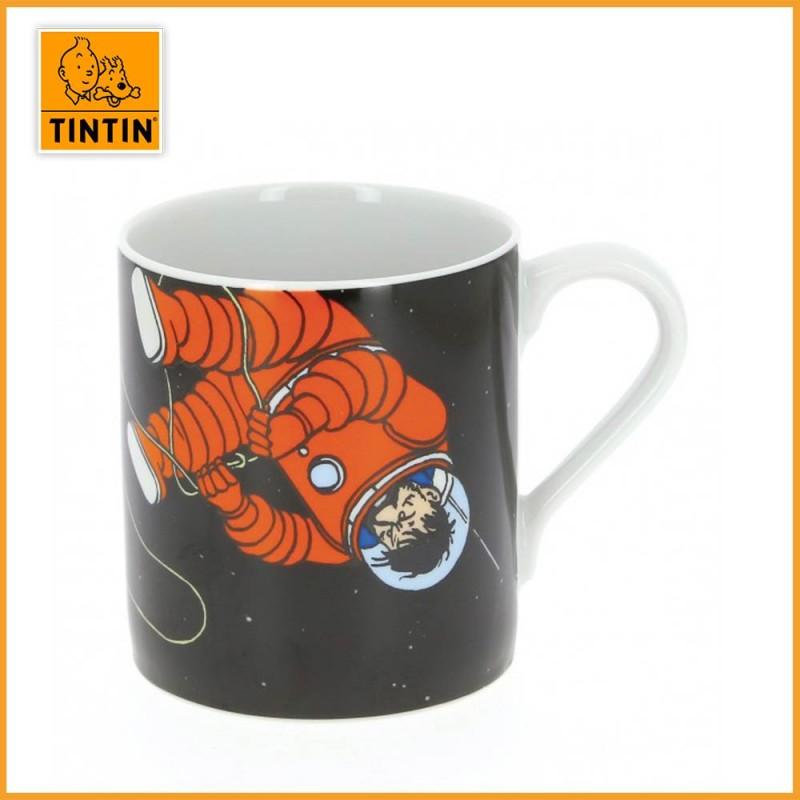 Mug Tintin & Haddock Lune - Tasse Tintin Lune - Haddock dans l'espace