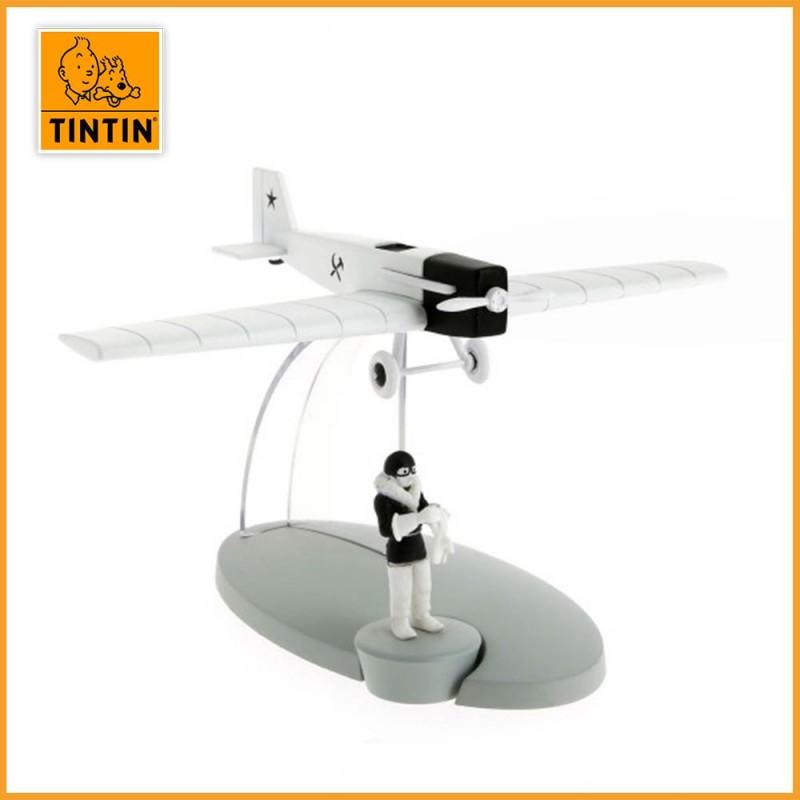 L'avion de chasse - Tintin au pays des soviets - Figurine avion Tintin