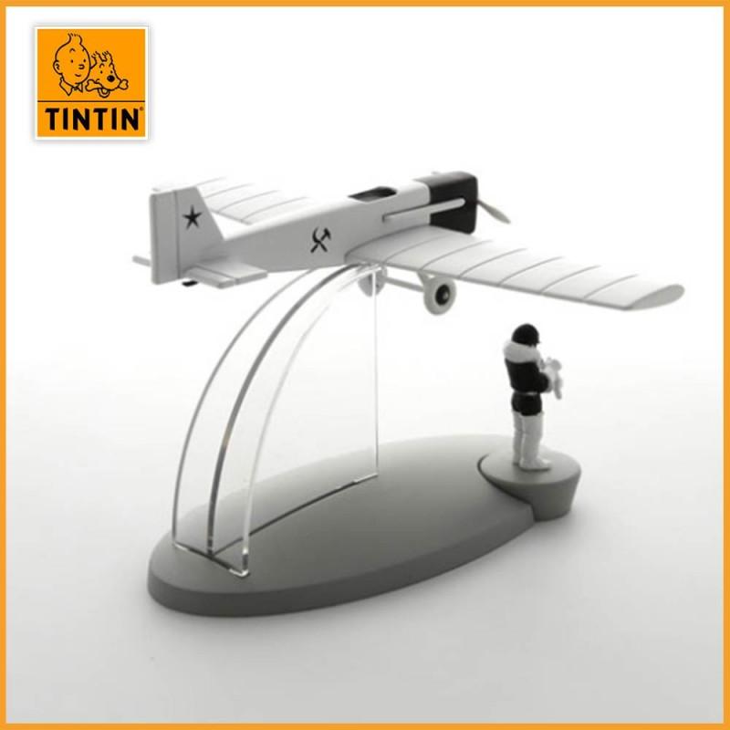 L'avion de chasse - Tintin au pays des soviets - Figurine avion Tintin - vue de dos