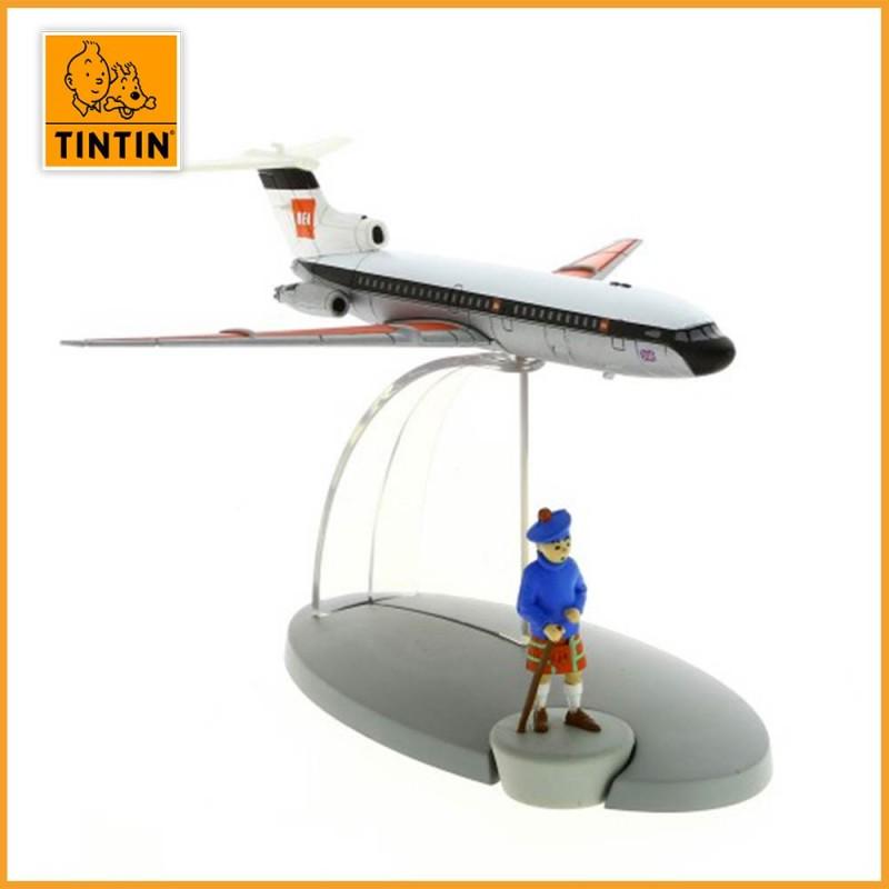 L'avion de la British European Airways - L'île Noire - Figurine avion Tintin