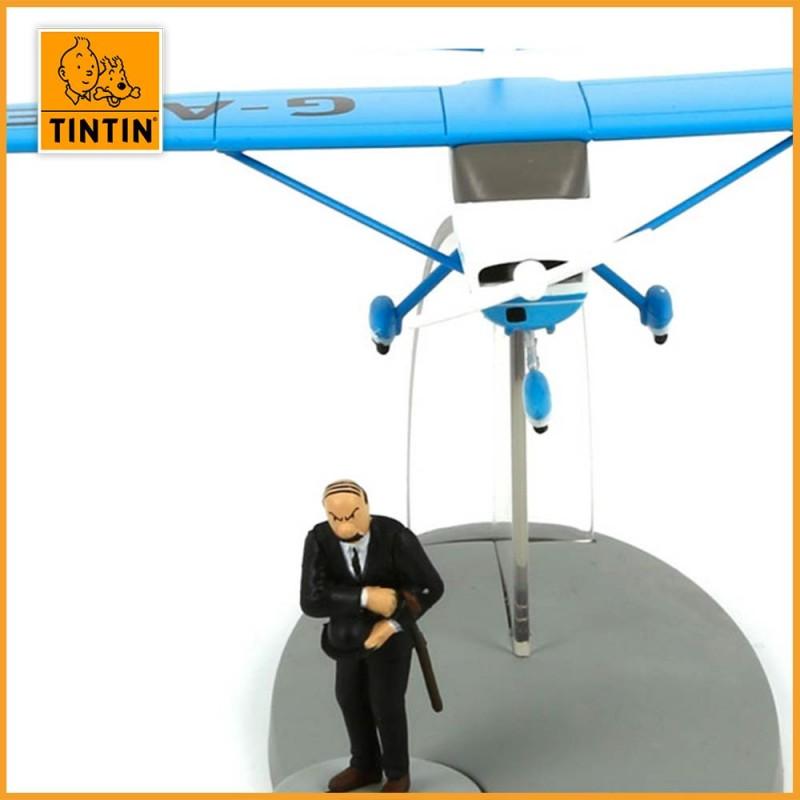 L'avion bleu de Müller - L'île Noire - Figurine avion Tintin - zoom