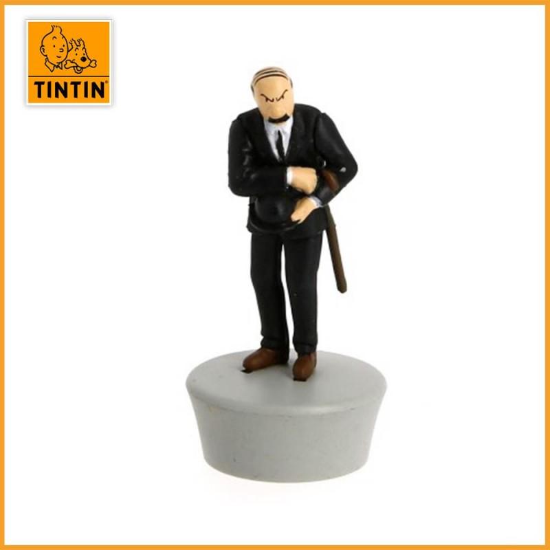 L'avion bleu de Müller - L'île Noire - Figurine avion Tintin - zoom figurine.