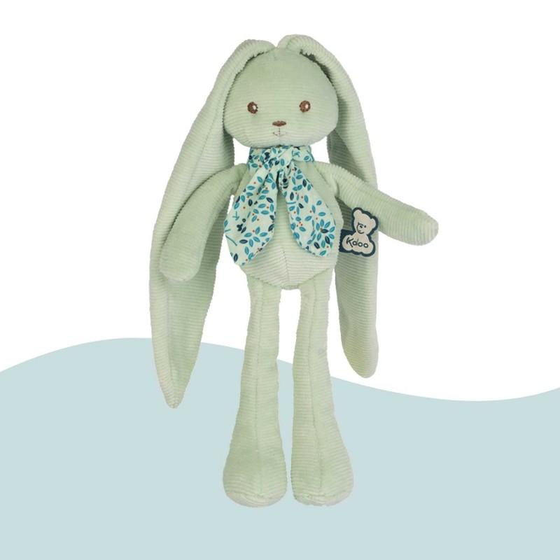 Peluche bleu aqua lapin de Kaloo idéal pour un doudou