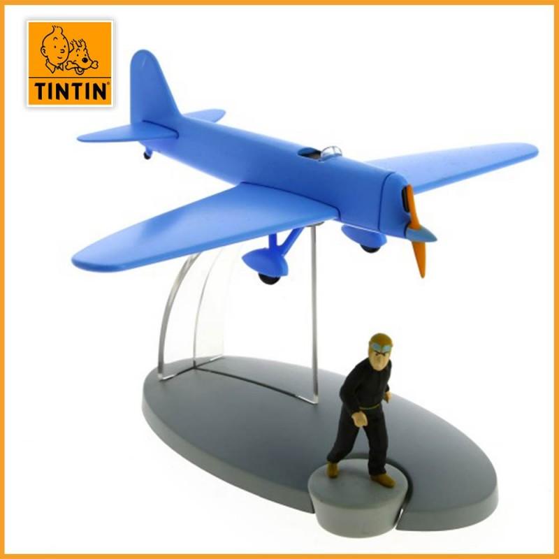 L'avion bleu de Jo, Zette & Jocko - Avion de Werner - En avion Tintin