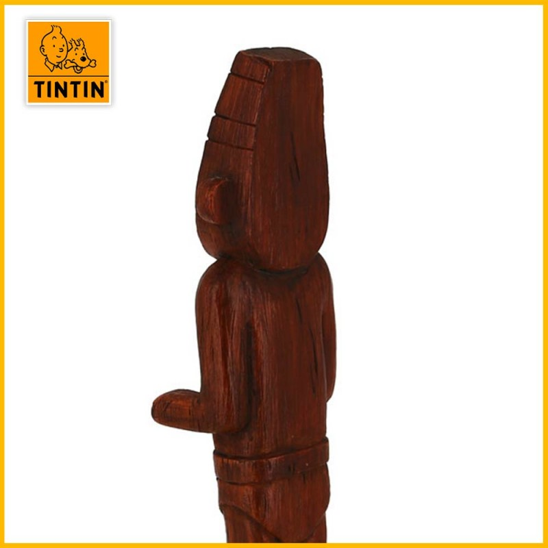 Dos de la statuette Collector Tintin