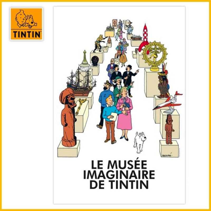 L'affiche de l'exposition Le Musée Imaginaire de Tintin (elle n'est pas incluse avec la figurine)