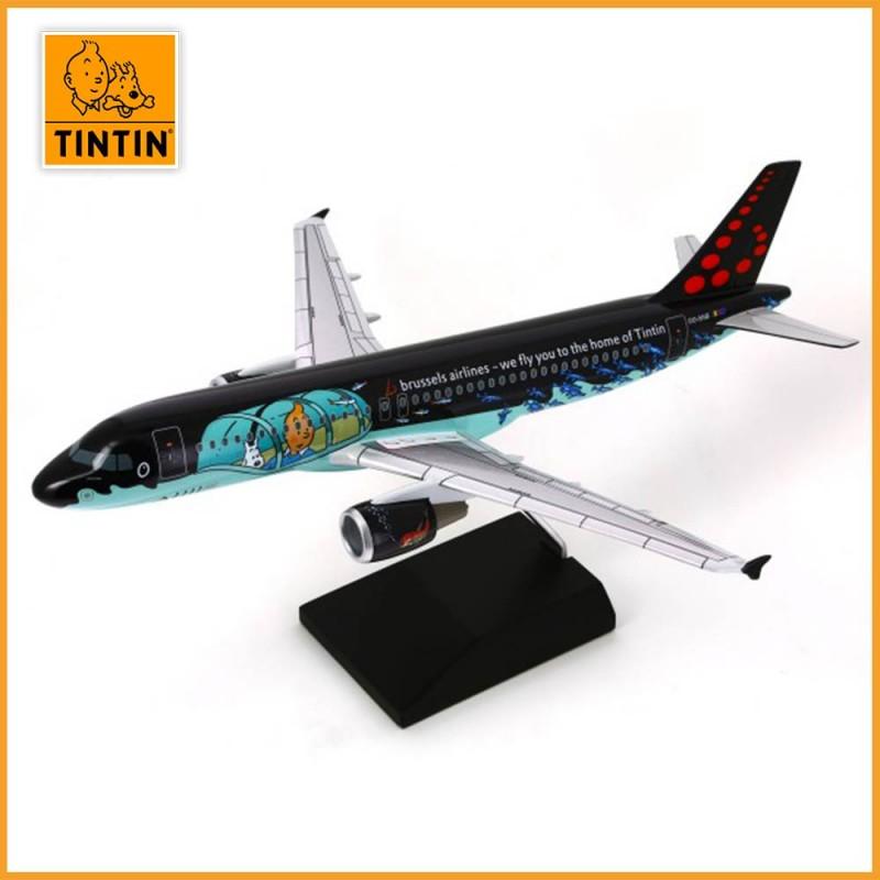 Tintin Airbus A320 Rackham - Brussels Airlines aux couleurs de Tintin - vue 2