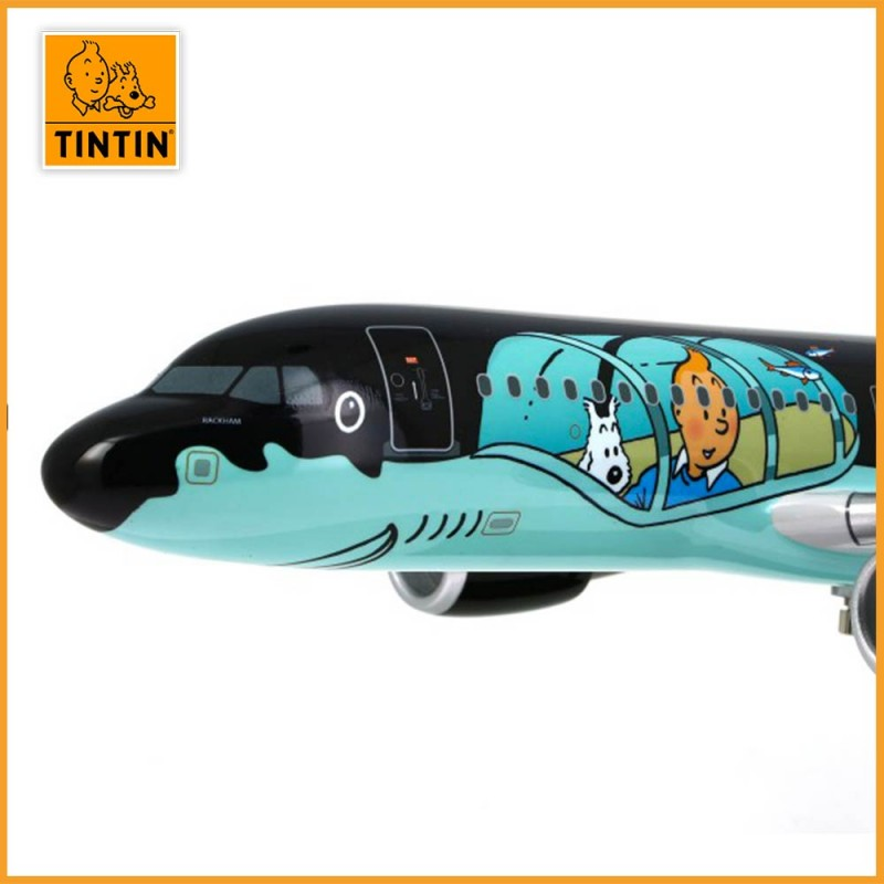 Tintin Airbus A320 Rackham - Brussels Airlines aux couleurs de Tintin - Zoom illustration tintin