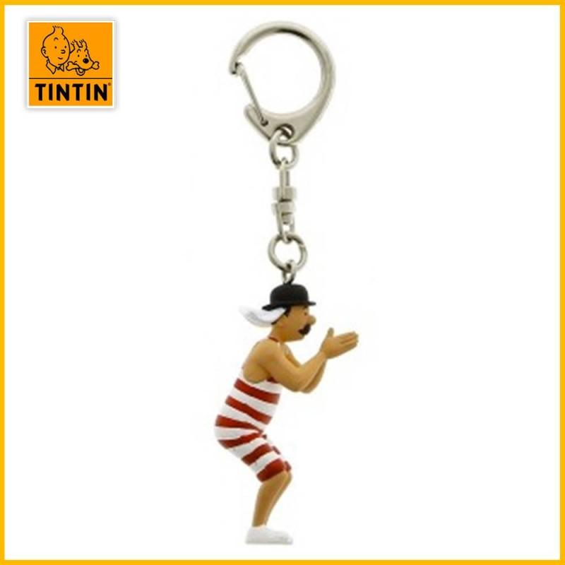 Porte-clés Dupont Baigneur - Figurine Tintin (grand modèle)