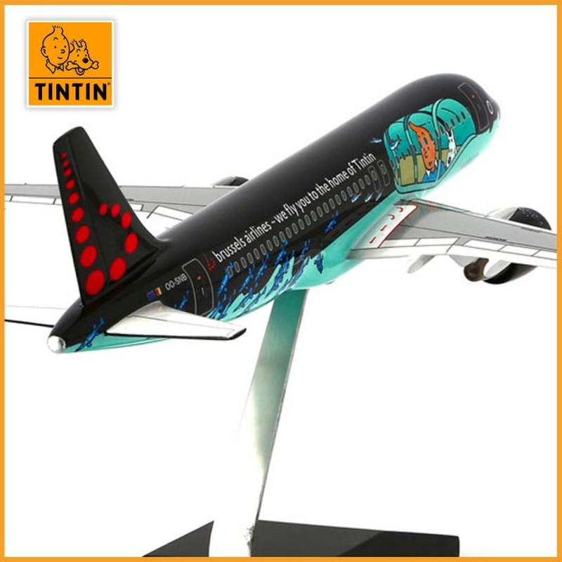 Tintin Airbus A320 Rackham - Brussels Airlines aux couleurs de Tintin - Avion de dos