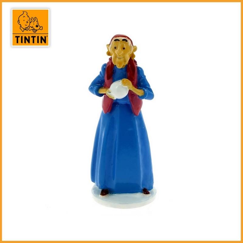 Dame gitane - Tintin carte de voeux 1972 - Figurine Alliage Tintin