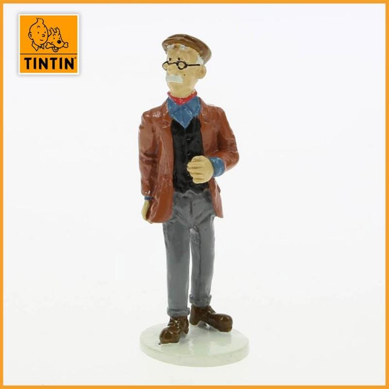 Marbrier Boullu - Tintin carte de voeux 1972 - Figurine Plomb Tintin