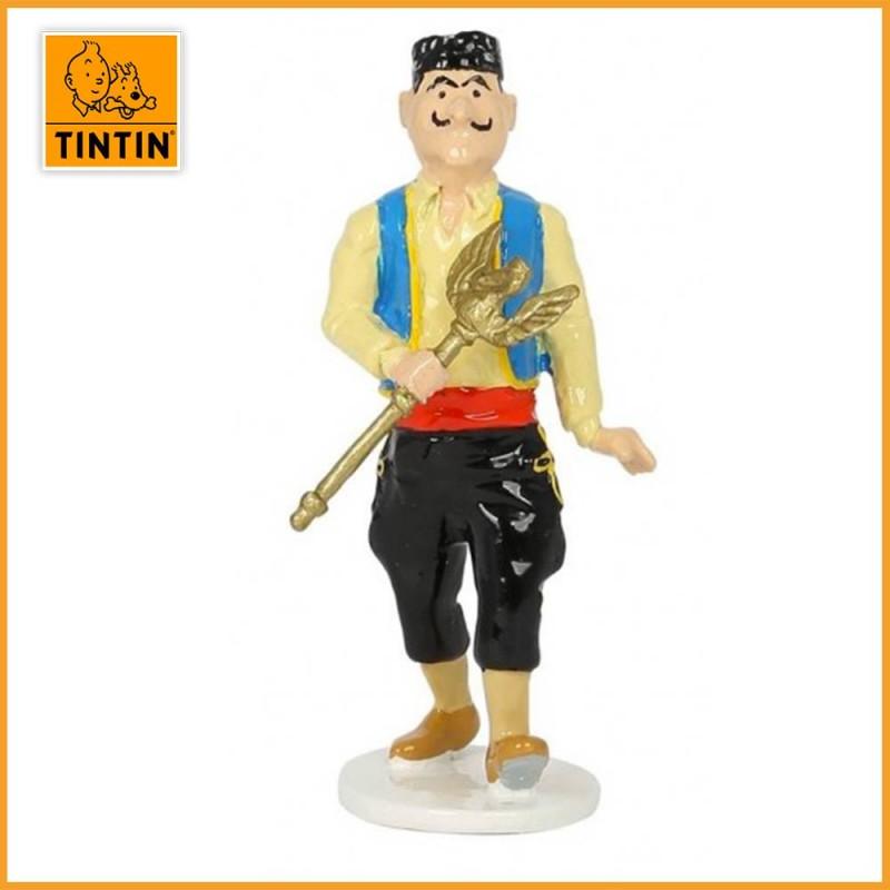 Voleur de sceptre - Tintin carte de voeux 1972 - Figurine Plomb Tintin