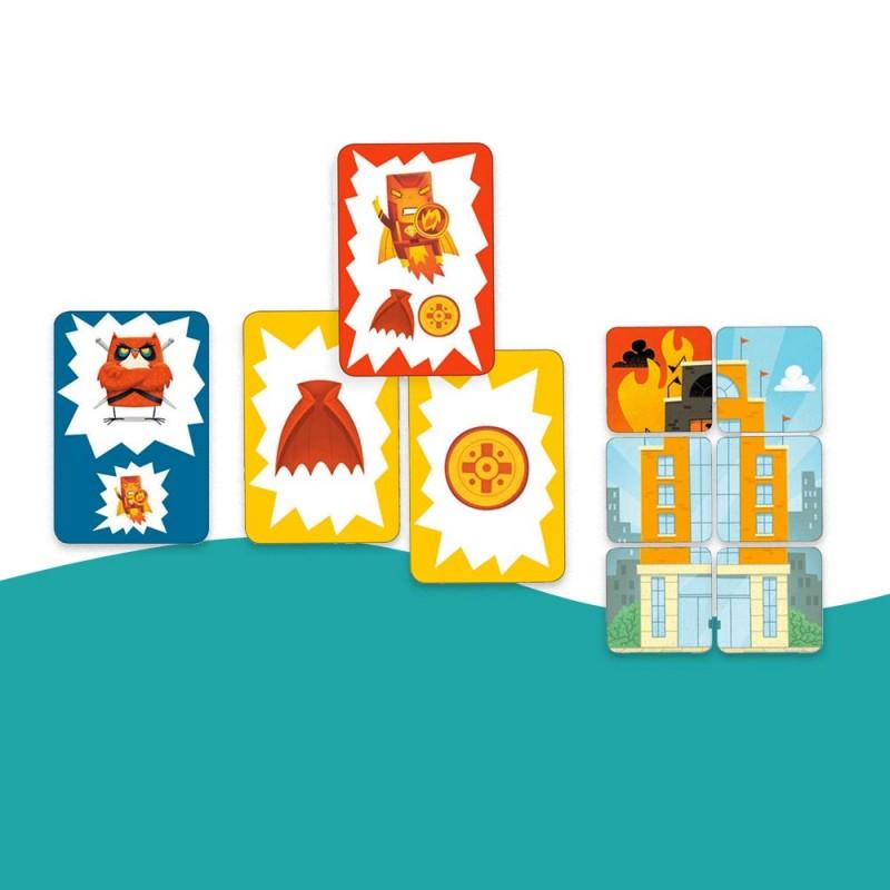 Les cartes du jeu Hero Town de Djeco pour les enfants (dès 6 ans)