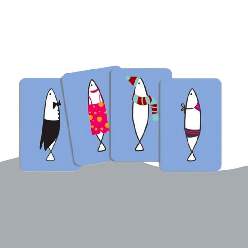 Jeu de cartes avec des sardines Djeco
