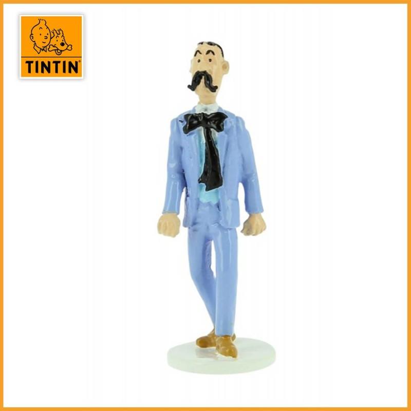 Agent secret Kaviarovitch - Tintin carte de voeux 1972 - Figurine Plomb Tintin