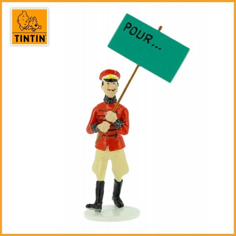 Figurine Plomb Muskar XII - Tintin carte de voeux 1972 -  46525 Moulinsart