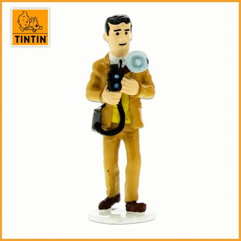 Figurine Plomb Photographe Gino - Tintin carte de voeux 1972
