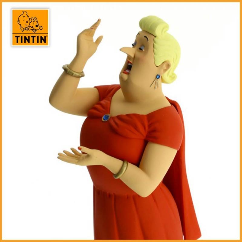 Statuette Castafiore - Galerie des personnages - Figurine Résine Tintin - zoom visage