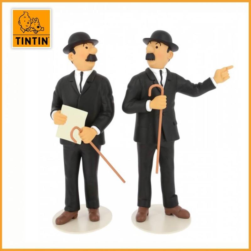 Statuette Dupont et Dupond - Musée Imaginaire - Figurine Résine Tintin 46011