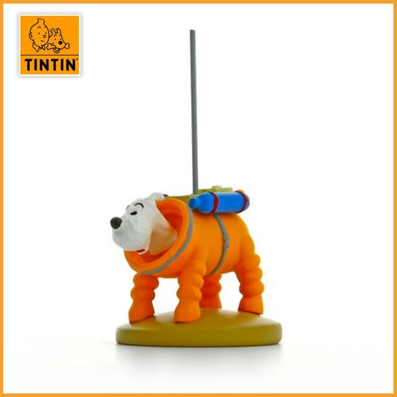 Figurine Milou en cosmonaute - Statuette Tintin résine 9 cm