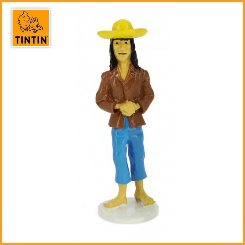 Figurine Alliage Caraco - Carte de voeux 1972 - Moulinsart 46520