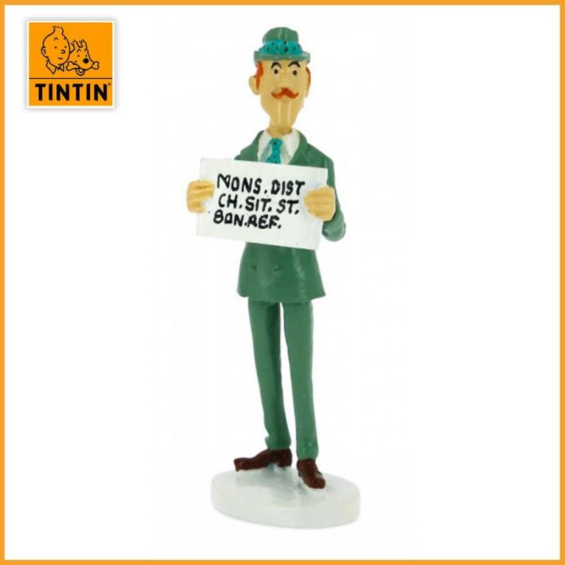 Spalding Tintin Carte de voeux 1972 Figurine Allaige Moulinsart 46521