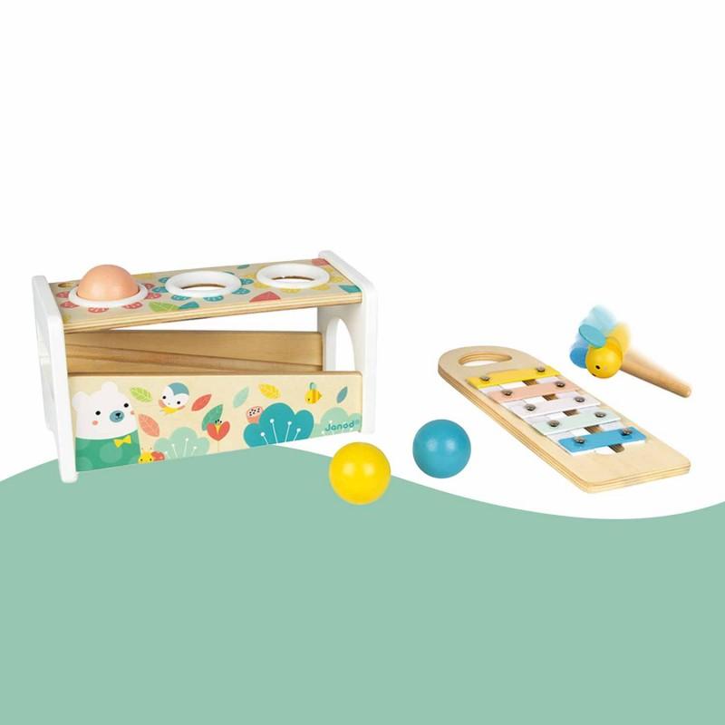 Jouet d'éveil en bois et instrument de musique pour les jeunes enfants (dès 12 mois)
